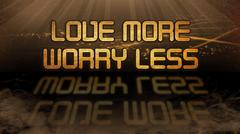 Gold quote - Love more, worry less Stock Illustration