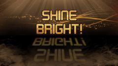 Gold quote - Shine bright - stock illustration