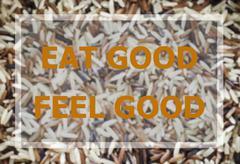 Eat good feel good word inspirational quote - stock photo