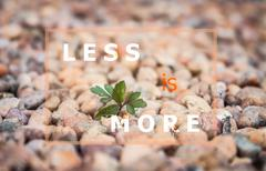 Less is more inspirational quote - stock photo