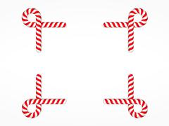 Candy Cane Frame Stock Illustration