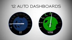 12 Auto Dashboards - stock after effects