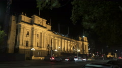 Parliament House, Melbourne moving time-lapse - stock footage