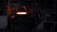 Purging metal oxygen converter  Stock Footage