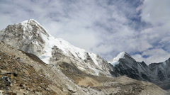 A time lapse video of clouds moving around Mt Pumori (7165m) in Nepal Stock Footage