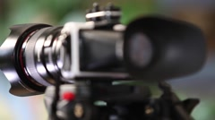 Viewfinder video camera Stock Footage