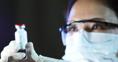 Scientist Conducting Research In Laboratory Stock Footage