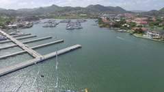 Views of harbor - St Lucia Stock Footage