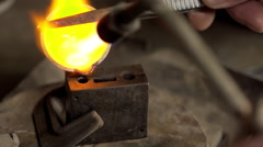 At the jeweller's workshop. Close up Stock Footage