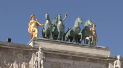 Arc deTriomphe du Carrousel Paris Stock Footage