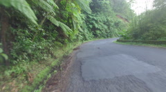 Vehicle shot of island road - St Lucia Stock Footage