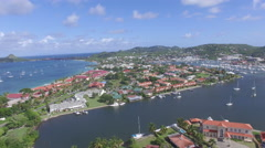 Stunning panoramic view of bays in St Lucia Stock Footage