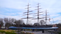 TimeLapse of the Cutty Shark in Greenwich Stock Footage