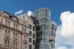 Dancing House in Prag Stock Photos