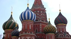 Saint Basil Cathedral In Moscow Stock Footage