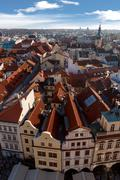 View from Astronomical Clock Stock Photos