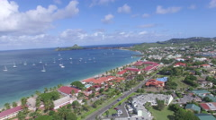 View of coastline - St Lucia Stock Footage