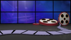 Entertainment TV Studio Set 33 - Virtual Green Screen Background Loop - stock footage
