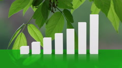 Sustainability growth graph Stock Footage