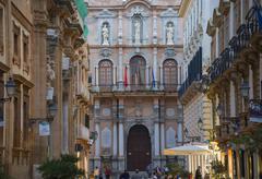 The Palazzo Senatorio, Trapani, Sicily, Italy, Europe Stock Photos