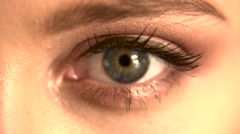 Close up eyes with bright makeup Stock Footage
