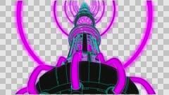 VJ Loop neon metal beats over movement 128 bpm  outlined 720p - stock footage
