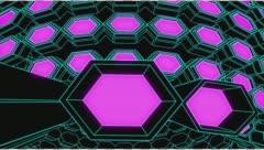 VJ Loop Neon Metal grid on fast Beat drop 128 ppm outlined w alpha channel - stock footage