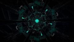 Vj Loop Neon Metal Tunnel 128 bpm Stock Footage