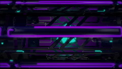 VJ Loop Neon Metal Beats structure moving sideways 128 bpm  Stock Footage
