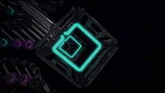 VJ Loop neon metal beats rollercoaster  camera 128 bpm  720p Stock Footage