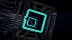 VJ Loop neon metal beats rollercoaster rotating camera 128 bpm  720p - stock footage