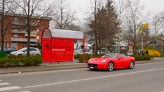Ferrari on the street Stock Footage