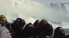 Niagara Falls 1982: maid of the mist cruise - stock footage