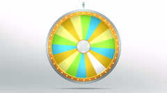Colourful graphic in Wheel of fortune Stock Footage