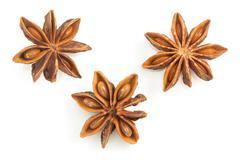anise star on white background - stock photo