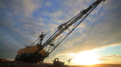 Dragline excavator in action. Time Lapse. Stock Footage