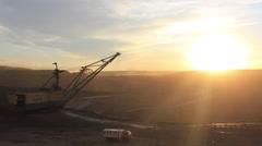 Dragline. Caterpillar Global Mining Stock Footage