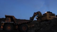 Coal loading. Time lapse Stock Footage