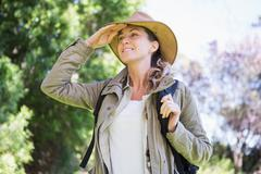 Woman observing something Stock Photos