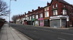 Derelict shops being sold by the council for £1 each to be refurbished Stock Footage