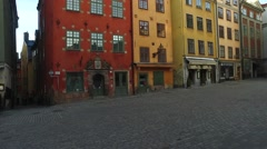 Stortorget Public Square, Gamla Stan, Sweden Stock Footage