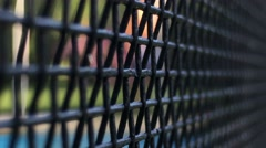 Pool fence. Conceptual take of security, protection, and defense barrier. Stock Footage