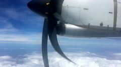 Plane about to take off. View of propeller. Stock Footage