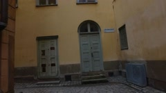 Gamla Stan,The Old Town In Stockholm - stock footage