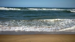 Beach ocean shore 4k resolution. Stock Footage