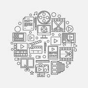 Video production illustration Stock Illustration