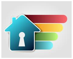 Abstract house icon on white background, design elements for your logo - stock illustration