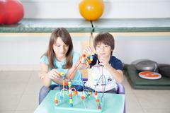 Kids in rehabilitation - stock photo