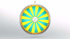 Yellow and green colour graphic in Wheel of fortune Stock Footage