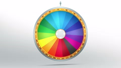 Rainbow color graphic in Wheel of fortune Stock Footage